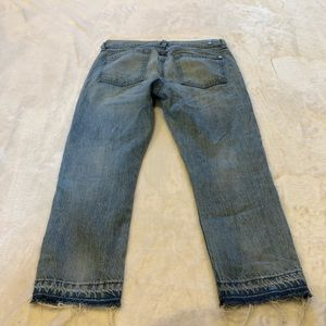 7 For All Mankind Jeans - 7FAM | Cropped Relaxed Skinny Raw Hem Sz 25